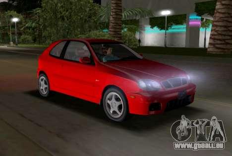 Daewoo Lanos Sport NOUS 2001 pour une vue GTA Vice City de l'intérieur