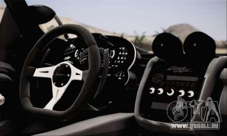 Pagani Zonda 760RS pour GTA San Andreas sur la vue arrière gauche