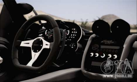 Pagani Zonda 760RS für GTA San Andreas zurück linke Ansicht