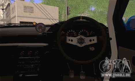 Nissan GT-R32 für GTA San Andreas zurück linke Ansicht