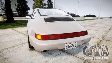 Porsche 911 (964) Coupe pour GTA 4 Vue arrière de la gauche