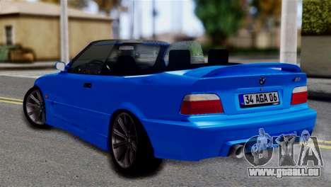 BMW M3 E36 Cabrio pour GTA San Andreas laissé vue