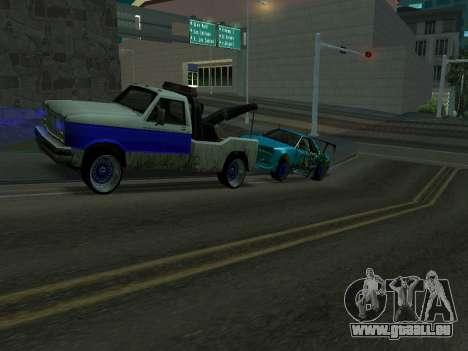 Nissan Skyline R34 EvilEmpire pour GTA San Andreas sur la vue arrière gauche