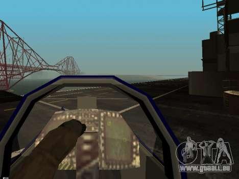 BlueAngels Hydra pour GTA San Andreas vue intérieure