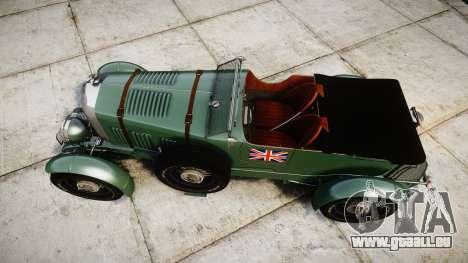 Bentley Blower 4.5 Litre Supercharged [low] pour GTA 4 est un droit