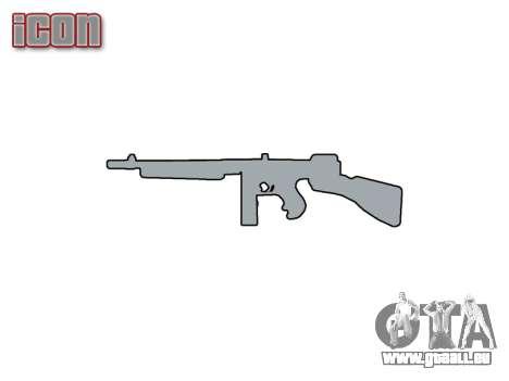 Maschinenpistole Thompson M1A1 box icon1 für GTA 4 dritte Screenshot