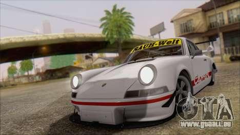 Porsche 911 Carrera 1973 Tunable KIT C für GTA San Andreas zurück linke Ansicht