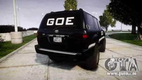 Toyota Land Cruiser 100 GOE [ELS] für GTA 4 hinten links Ansicht