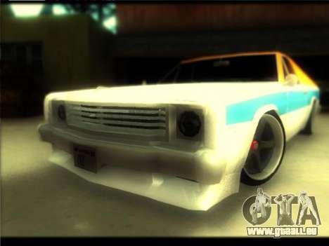 Nouveau Picador pour GTA San Andreas vue de dessous