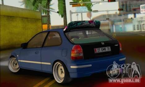 Honda Civic V Type EMR Edition für GTA San Andreas linke Ansicht