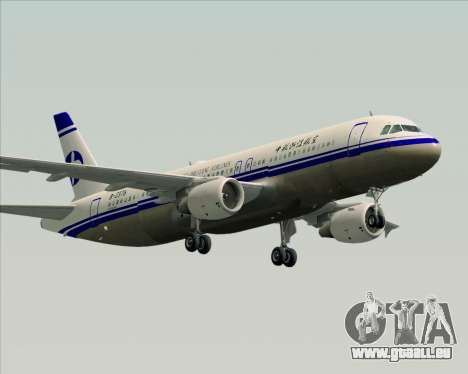 Airbus A320-200 CNAC-Zhejiang Airlines für GTA San Andreas rechten Ansicht