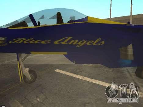 BlueAngels Hydra pour GTA San Andreas vue arrière