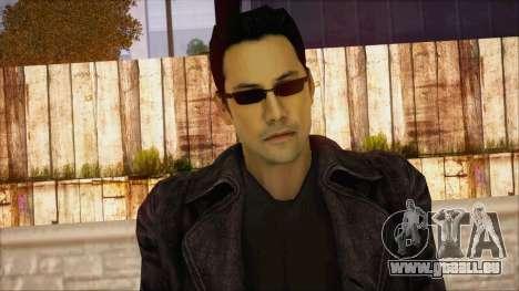 Neo Matrix Skin für GTA San Andreas dritten Screenshot