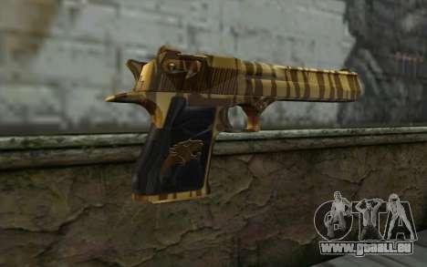 Desert Eagle Gold v1 pour GTA San Andreas deuxième écran