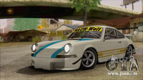 Porsche 911 Carrera 1973 Tunable KIT C für GTA San Andreas Rückansicht