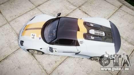 Porsche 918 Spyder 2014 Weissach für GTA 4 rechte Ansicht