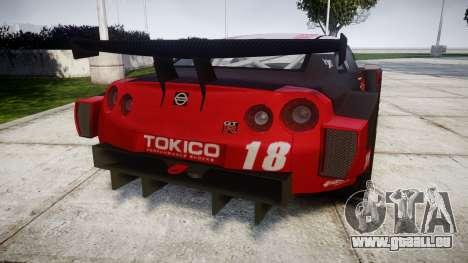 Nissan GT-R Super GT [RIV] pour GTA 4 Vue arrière de la gauche
