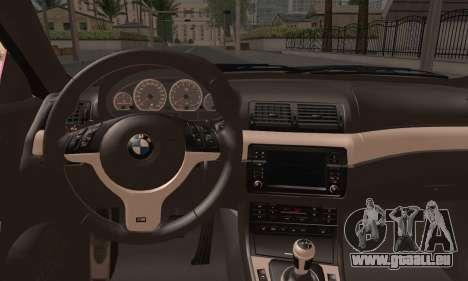BMW M3 E46 StanceWork pour GTA San Andreas sur la vue arrière gauche