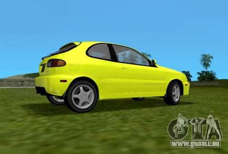 Daewoo Lanos Sport NOUS 2001 pour une vue GTA Vice City de la gauche