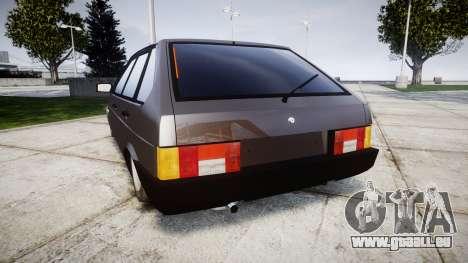 VAZ-2109 Neun für GTA 4 hinten links Ansicht