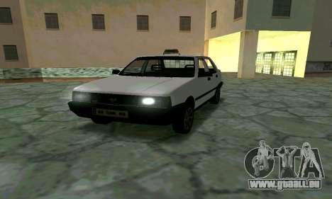 Tofas Sahin Taxi pour GTA San Andreas vue arrière