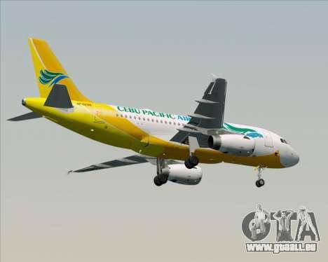 Airbus A319-100 Cebu Pacific Air für GTA San Andreas Unteransicht