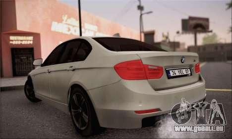 BMW F30 320d für GTA San Andreas linke Ansicht