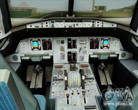 Airbus A320-200 CNAC-Zhejiang Airlines für GTA San Andreas Innen
