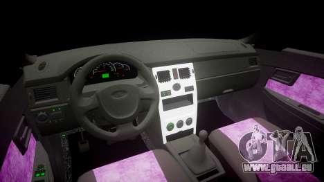 ВАЗ-2170 Installé Prieure de la Qualité v2.0 pour GTA 4 est une vue de l'intérieur