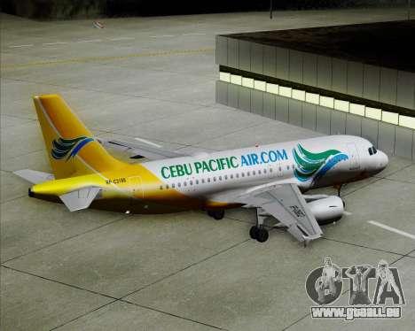 Airbus A319-100 Cebu Pacific Air für GTA San Andreas Räder
