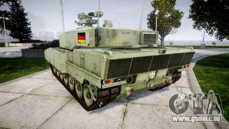 Leopard 2A7 DE Green für GTA 4 hinten links Ansicht