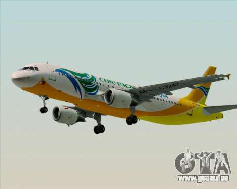 Airbus A320-200 Cebu Pacific Air für GTA San Andreas linke Ansicht