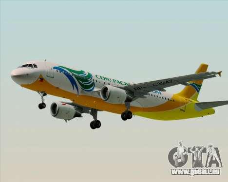 Airbus A320-200 Cebu Pacific Air für GTA San Andreas linke Ansicht