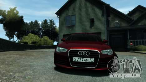 Audi A6 2012 pour GTA 4 Vue arrière de la gauche