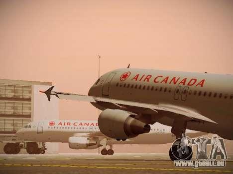 Airbus A320-214 Air Canada pour GTA San Andreas roue