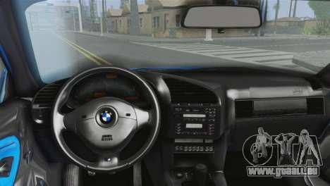BMW M3 E36 Cabrio pour GTA San Andreas sur la vue arrière gauche