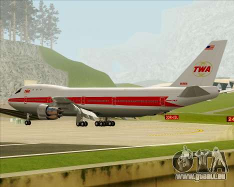 Boeing 747-100 Trans World Airlines (TWA) pour GTA San Andreas roue