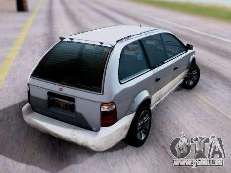 GTA V Minivan pour GTA San Andreas laissé vue