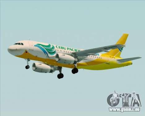 Airbus A319-100 Cebu Pacific Air für GTA San Andreas Motor