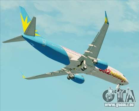 Boeing 737-800 Jet2Holidays pour GTA San Andreas vue de dessus