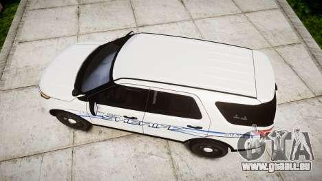 Ford Explorer 2013 [ELS] Liberty County Sheriff für GTA 4 rechte Ansicht