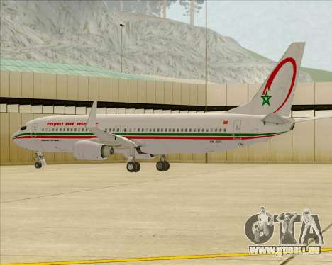 Boeing 737-8B6 Royal Air Maroc (RAM) für GTA San Andreas Räder