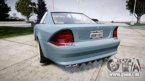 Benefactor Schafter Gen. 1 Grey Series pour GTA 4 Vue arrière de la gauche