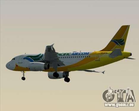 Airbus A319-100 Cebu Pacific Air für GTA San Andreas Rückansicht