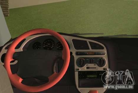 Daewoo Lanos Sport NOUS 2001 pour GTA Vice City vue de dessous