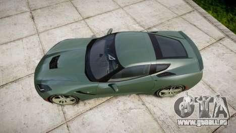 Chevrolet Corvette C7 Stingray 2014 v2.0 TirePi2 pour GTA 4 est un droit