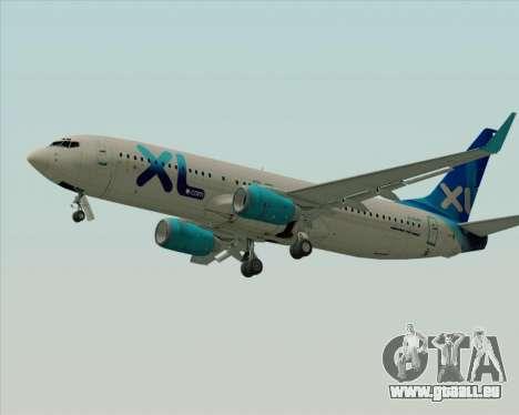 Boeing 737-800 XL Airways für GTA San Andreas zurück linke Ansicht