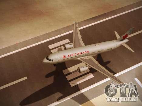 Airbus A320-214 Air Canada pour GTA San Andreas vue arrière