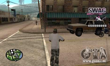 C-HUD Raum SWAG für GTA San Andreas zweiten Screenshot