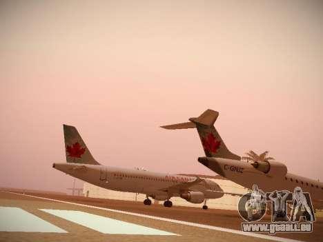 Airbus A320-214 Air Canada für GTA San Andreas obere Ansicht